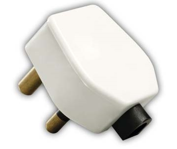 India Electrical Plug - 6 Amp, 3 Pin Plug