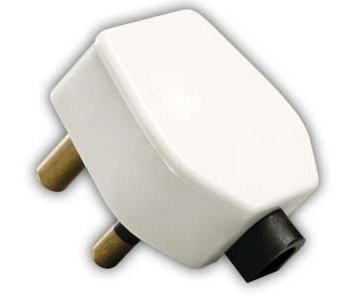 india electrical plug - 6 amp, 3 pin plug