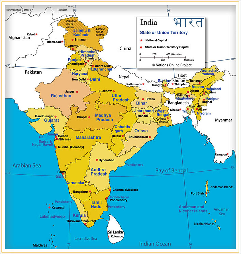 India map india quick facts for Cities in india