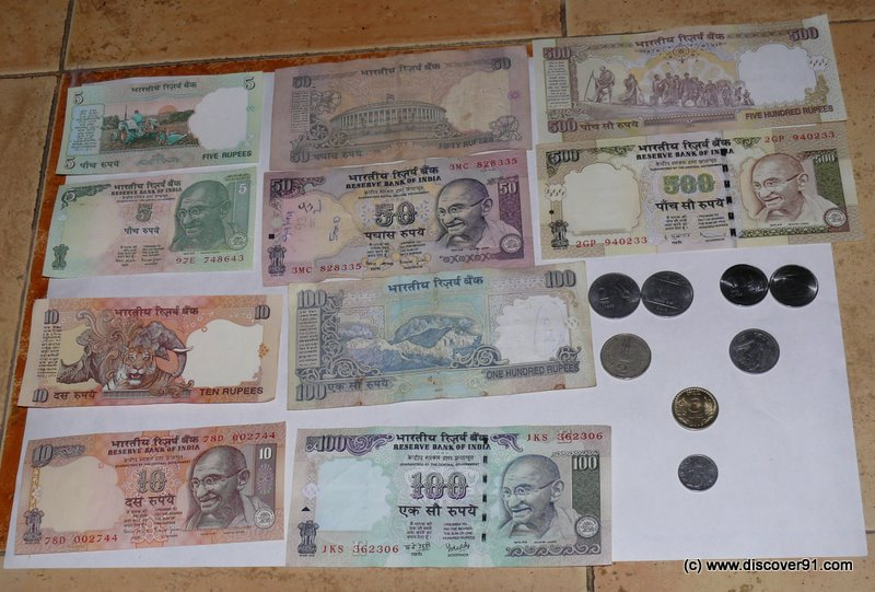 INR - Indian Rupee Currency Notes and Coins - Image